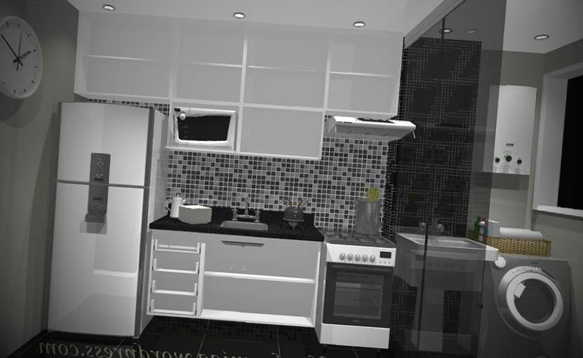 apartamento pequeno cozinha moveis planejados