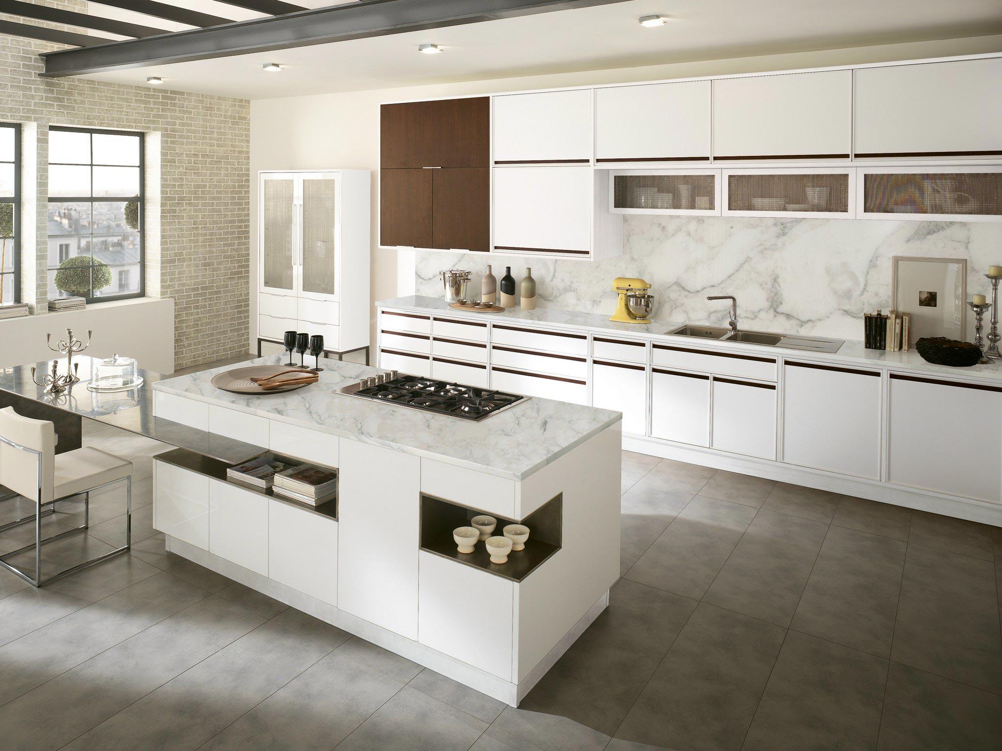Cozinhas Modernas Com Divis Rias Cozinhas Decoradas ~ Divisoria Para Cozinha E Sala