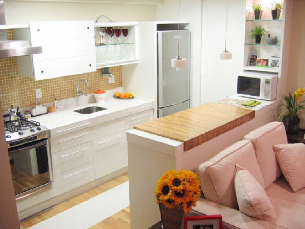 cozinha americana pequena