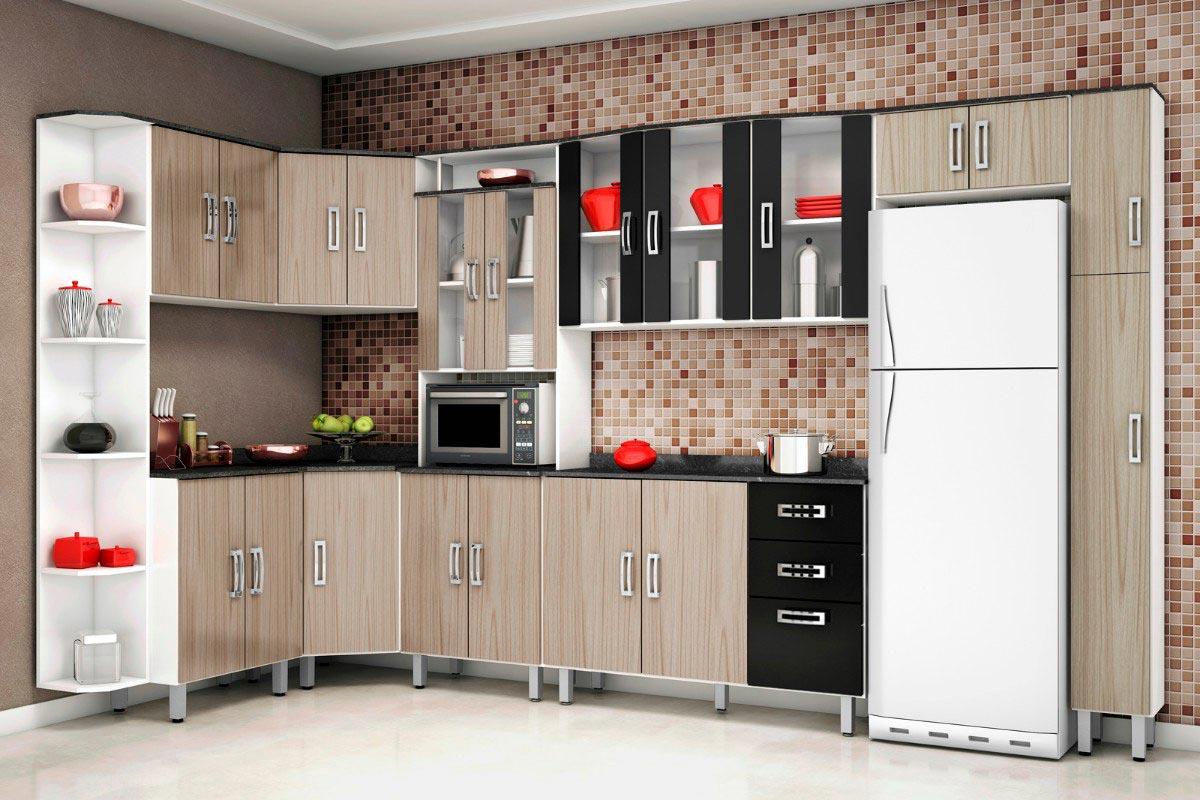 Cozinha Compacta Com Bancada Beyato Com V Rios Desenhos Sobre