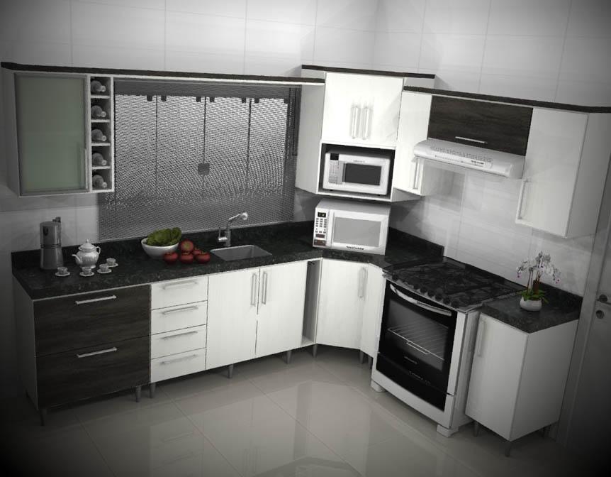 cozinha planejada apartamento decorada