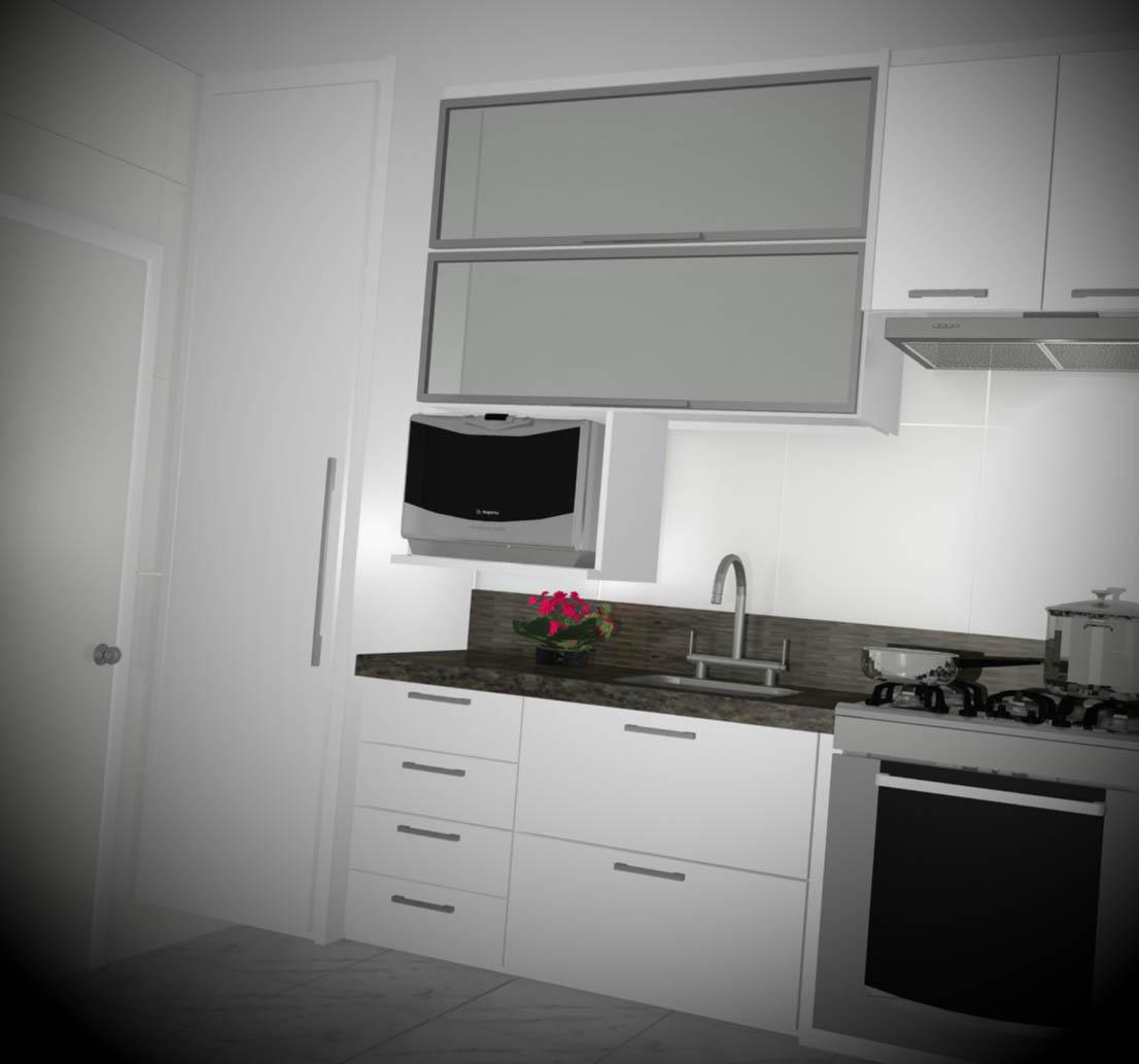 cozinha planejada decorada para apartamento