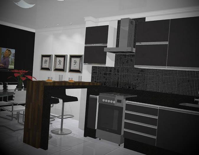 Decorações de cozinha preta