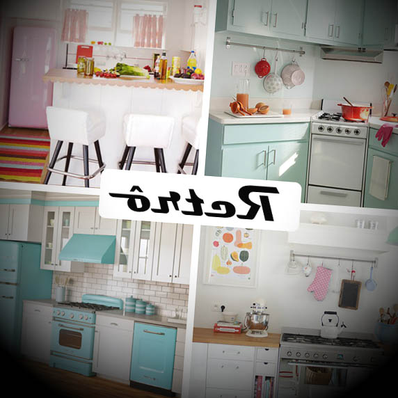 cozinha retro decorada