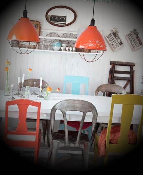 cozinha vintage decorada