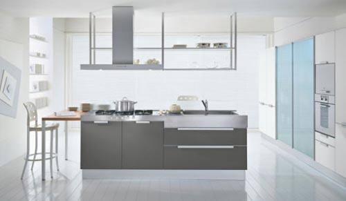 Cozinhas modernas em cinzento