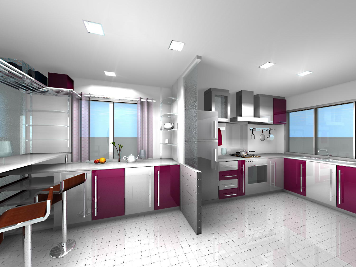 contemporary kitchen designs 2012 fotos de cozinhas decoradas 5714