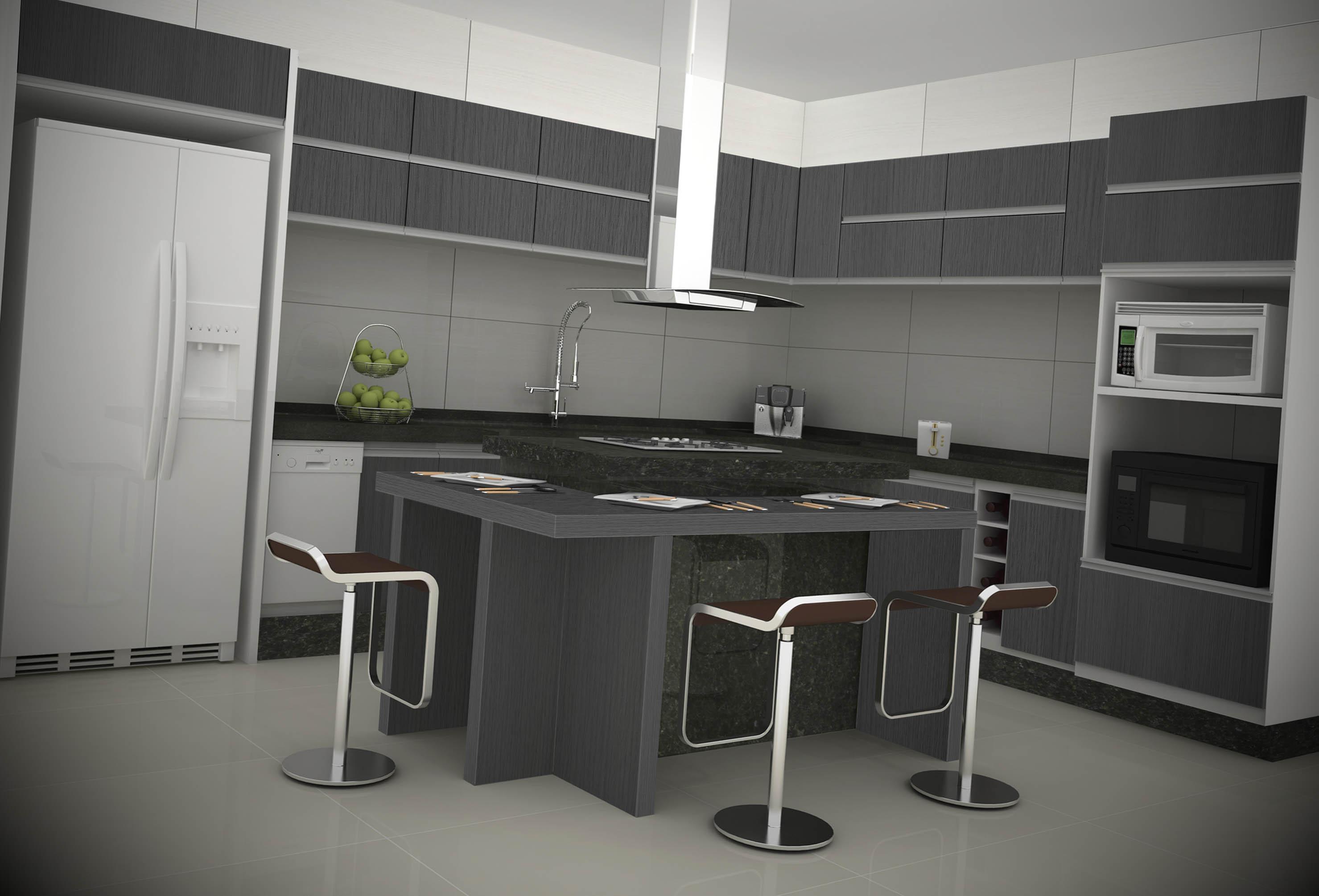 Cozinha Grande Com Ilha Moderna Cozinha Planejada Pequena Tipo Ilha