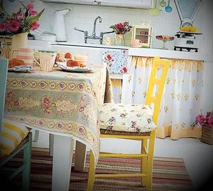Decoração de Cozinha Vintage  Decoração de Cozinha Vintage