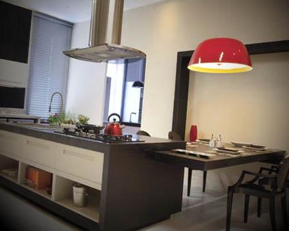 foto cozinha quadrada com ilha
