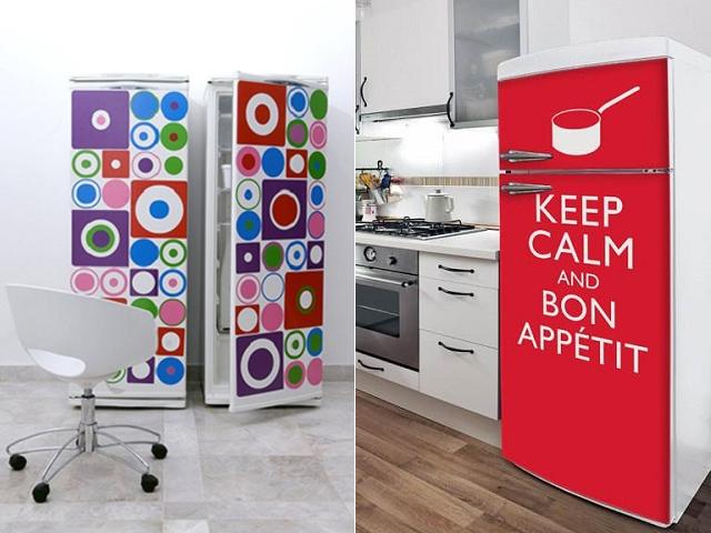 Decoração com geladeiras descoladas  Decoração com geladeiras descoladas