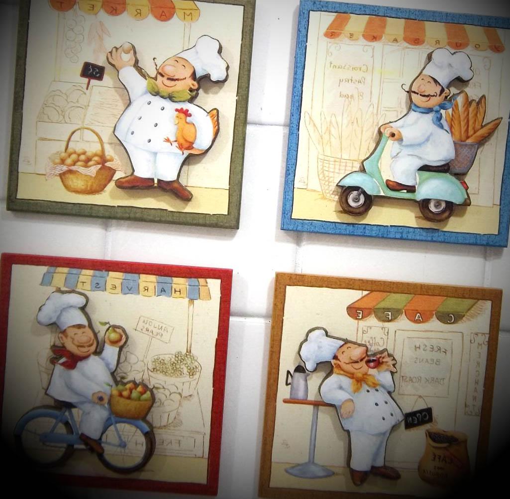 kit quadrinhos enfeite cozinha