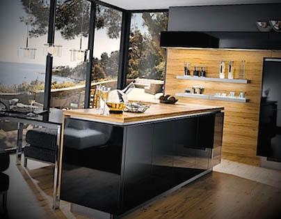 modelo de cozinha quadrada com ilha