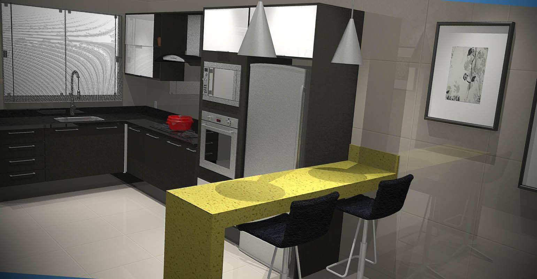 de Cozinhas Modernas Projetos de Cozinhas Modernas Projetos de  #938A38 1541 800
