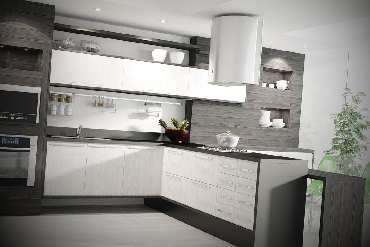 Móveis planejados para a cozinha Móveis planejados para a cozinha #4B5E40 1201 802