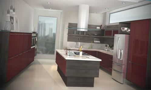 Cozinhas planejadas com ilha